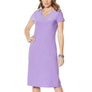 NWT Antthony Midi Dress Petite XL Lavender